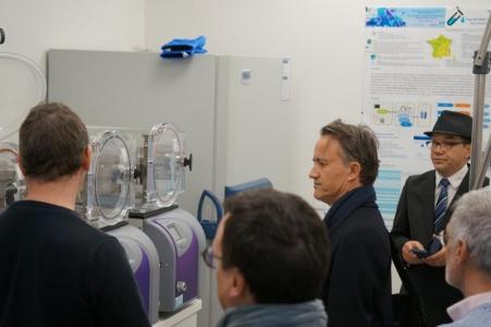 Visite de Philippe Mauguin, PDG d'INRAE