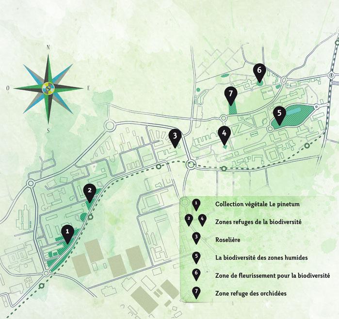Vue d'ensemble des zones du projet 3B