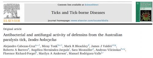 defensins from ticks