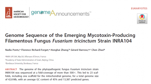 genome sequence F. tricintum