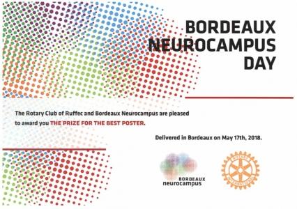 Prix de présentation de poster à la journée Neurocampus pour Camila De Avila