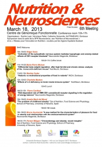 6th meeting Nutrition et Neurosciences