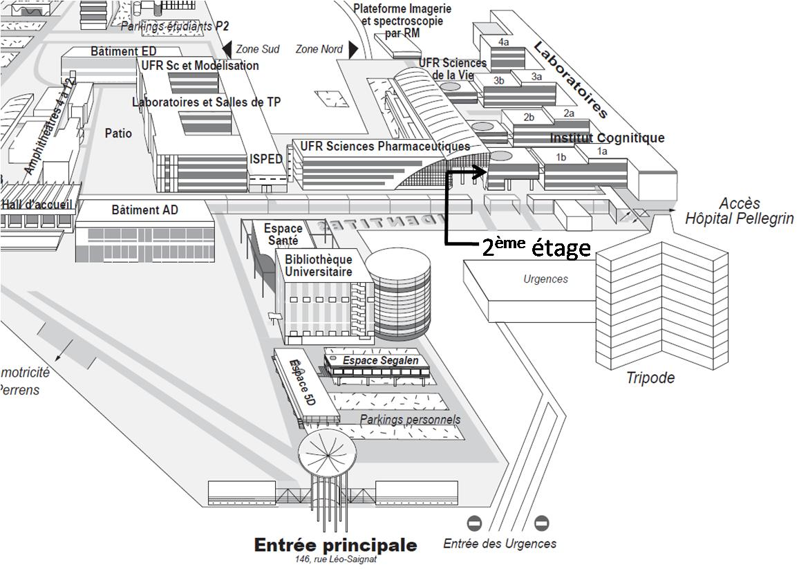 Carte Universite De Bordeaux.Nutrineuro Laboratoire Nutrition Et Neurobiologie Integree Adresse