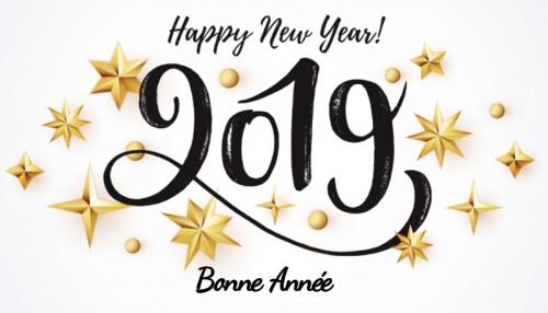Nous vous souhaitons une bonne et heureuse année 2019 !